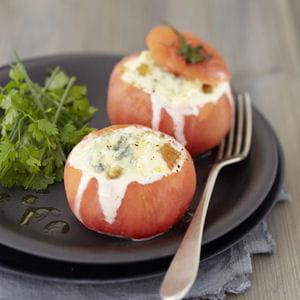 tomate farcie au bresse bleu