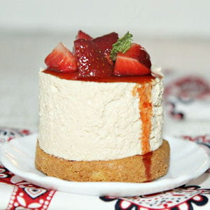 cheesecake au caramel de fraise