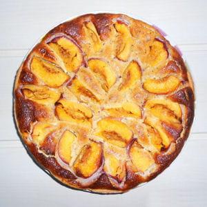 tarte aux nectarines jaunes