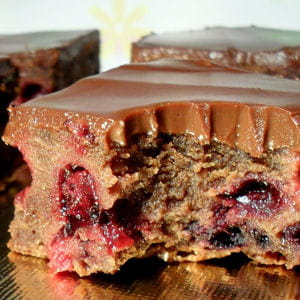 brownies aux fruits rouges