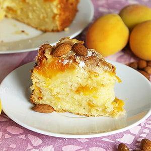 gâteau moelleux aux abricots