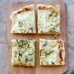 pizza aux courgettes et pommes de terres