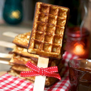 gaufre sucette de yummy and guitfree