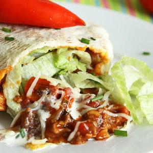 pita au bœuf mexicain