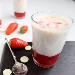 panna cotta fraise chocolat blanc