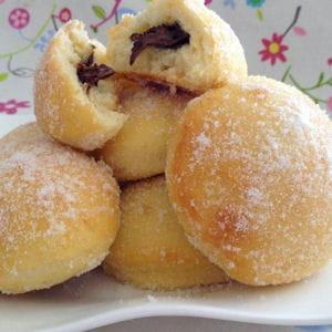 beignets au nutella au four