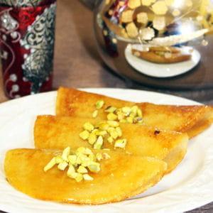 baghrir frit à la pistache