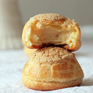 choux craquelins à la crème pâtissière