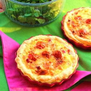 tartelette aux tomates cerise