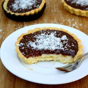 tartelettes chocolat-coco