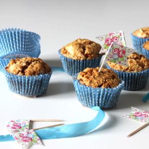 muffins rustiques pomme et noisette