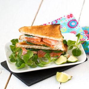 club sandwich fromage frais et truite