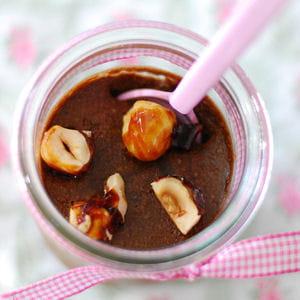 mousse chocolat et praliné en petits pots