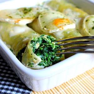 cannelloni saumon épinards ricotta et fromage de chèvre