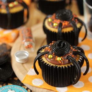 cupcakes araignées