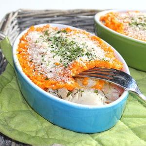 brandade de cabillaud carottes et patates douces