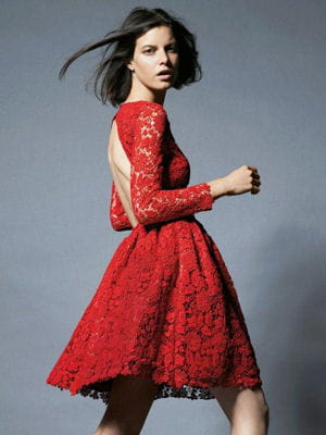 Robe de soiree rouge la redoute