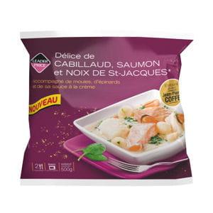 délice de cabillaud, saumon et noix de saint-jacques jean-pierre coffe