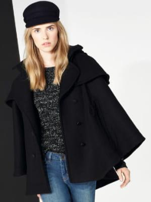 Trench cape noir de comptoir des cotonniers cape ou pas - Manteau comptoir des cotonniers hiver 2013 ...