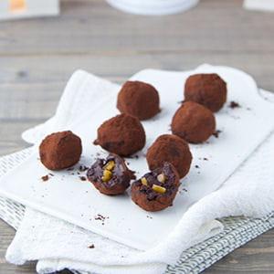 truffes aux éclats d'orange confites