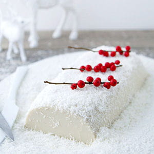 bûche tofu, coco, vanille