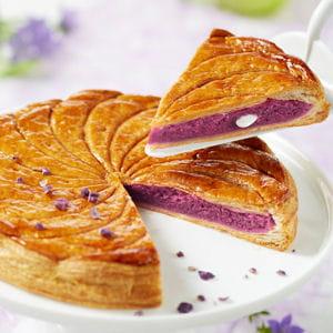 galette des rois crème violette-amande