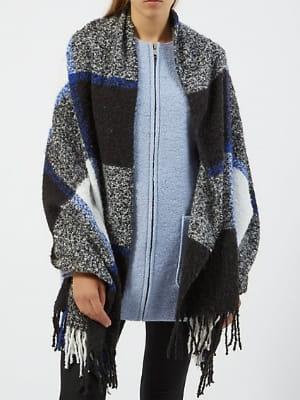 Charpe plaid noire carreaux de new look on s 39 emmitoufle dans notre charpe plaid journal - Echarpe plaid femme ...