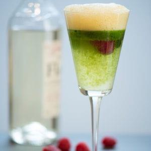cocktail au floc de gascogne samba, coriandre, passion