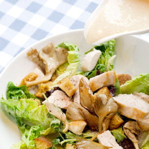 salade caesar aux pleurotes