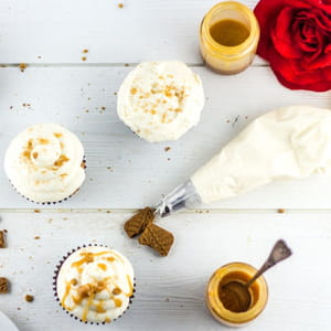 cupcakes spéculoos-caramel au beurre salé