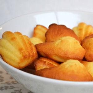 madeleines à la vanille