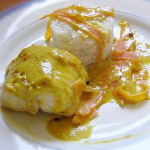 lotte à la crème safranée et curry