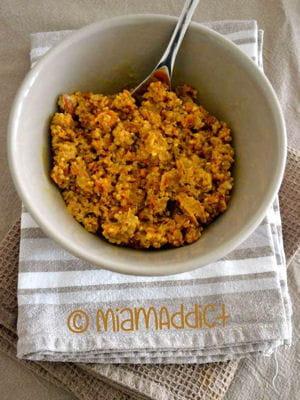 recette minceur curry de lentilles quinoa et carottes aux amandes. Black Bedroom Furniture Sets. Home Design Ideas
