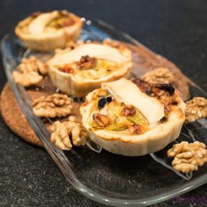 tartelettes poireaux, noix et parmesan