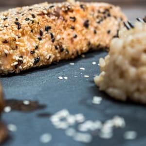 saumon pané au sésame