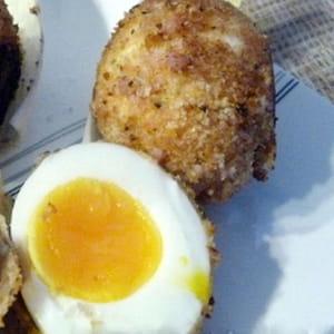 œufs mollets panés