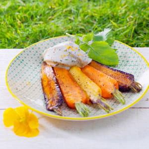 carottes nouvelles rôties, st môret® aux herbes