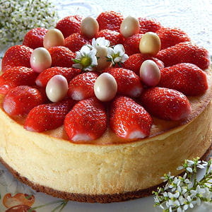 cheesecake au citron et aux fraises