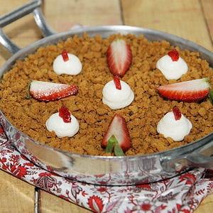 cheesecake aux fraises à la poêle