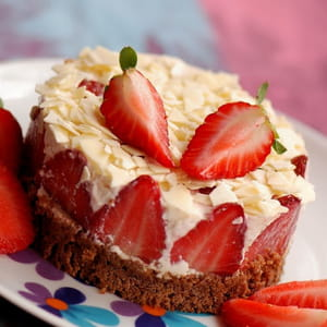 délice fraises et chocolat blanc