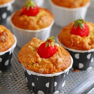 muffins fraise et chocolat blanc