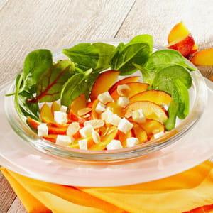 salade de nectarines au fromage de brebis