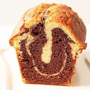 cake marbré au chocolat très moelleux