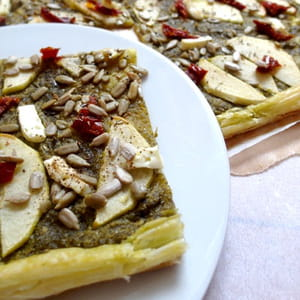 tarte fine au pesto et pommes