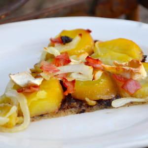 pizza blanche aux pommes de terre