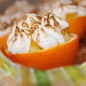 oranges meringuées à la crème de semoule