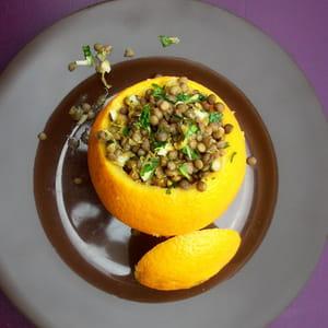 salade de lentilles à l'orange