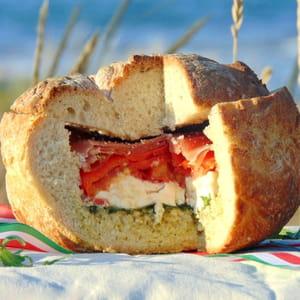 pain surprise aux couleurs de l'italie