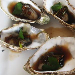 huîtres vapeur à la chinoise