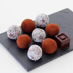 truffes avocat chocolat noir vegan